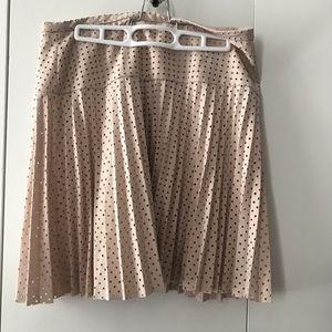 Pale pink pleated JCREW mesh skirt